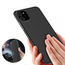 Ultra Thin Magnetic Car Phone Case for iPhone XR XS 6 6S 8 7 Plus 11 Pro Max Invisible Built-in Magnet Soft TPU Shockproof Cover(China)