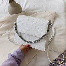 Stone patent white Crossbody Bags For Women 2020 Small Handbag Small Ba