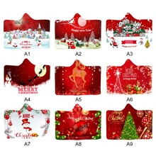 Рождественская тематика, покрывало с принтом, двустороннее, плюшевое, ультра мягкое, с капюшоном, для сна, одеяло, зимнее, для рук, для ног, теплее
