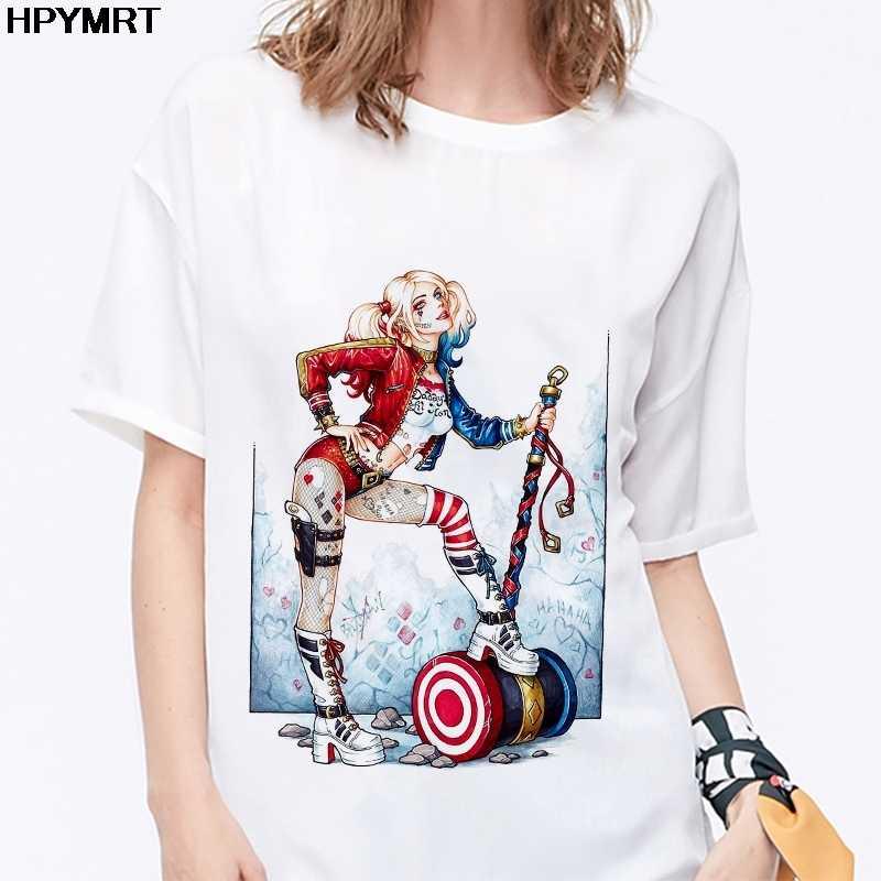 2020 yeni Harley Quinn T-Shirt kadın Harajuku Joker gömlek grafik Tees kadınlar Casual Tshirt moda Tops serin kadın t gömlek