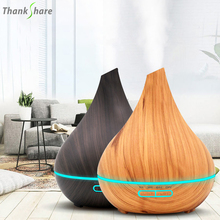 THANKSHARE 400ML 초음파 아로마 테라피 가습기 에센셜 오일 디퓨저 공기 청정기 안개 제조기 아로마 디퓨저 안개 홈
