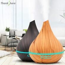 Thankshare 400ml ultra sônica aromaterapia umidificador de óleo essencial difusor purificador ar névoa criador aroma difusor fogger casa