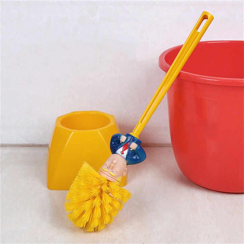 Engraçado macron donald toalete base escova suprimentos toalete ferramentas de limpeza do banheiro wc casa hotel acessórios de limpeza