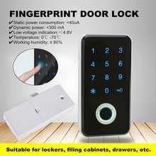 Smart Electronic Password Fingerprint Lock Keyless Biometric Cabinet/Door/Wardrobe/Drawer Locker Home/Office/Gym Access Control(China)