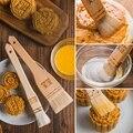 Бытовая кисть для выпечки moonторт, технические кисти для выпечки, деревянная ручка, шерстяные кухонные инструменты для готовки