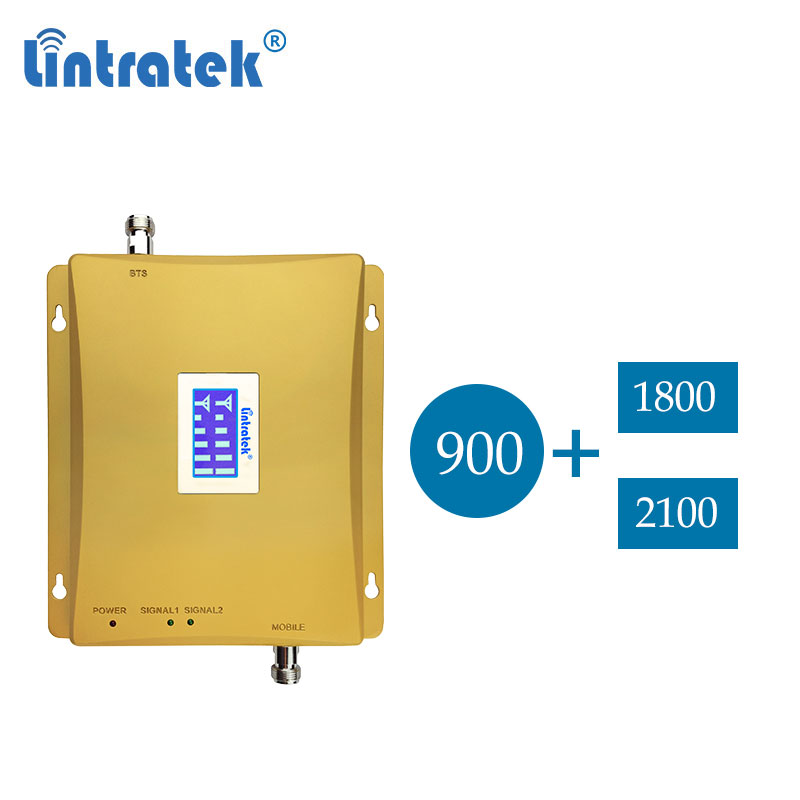Lintratek GSM 900mhz 2g 3g Repeater Dual Band Egsm 900 2g 4g Dcs 1800  Lte Cellular Signal Booster 4g Repeater Amplifier Dd