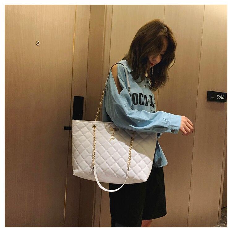 Women Handbag PU Leather 2020 Designer Brand Luxury Chain Shoulder Messenge Crossbody bag Large Capacity Office Lady Bag 12