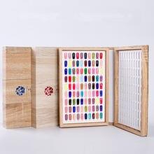 Книжка с цветным дисплеем для гель лака ногтей 180 цветов карта