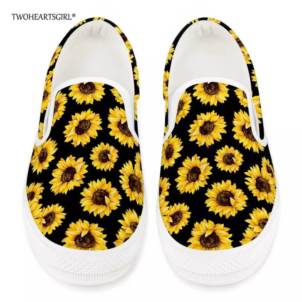 Twoheartsgirl Vulcanize-Shoes Sneakers-Plus Sunflower-Print Comfortable Female Flat Autumn title=