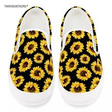 Twoheartsgirl Stylish Sunflower Print Women Vulcanize