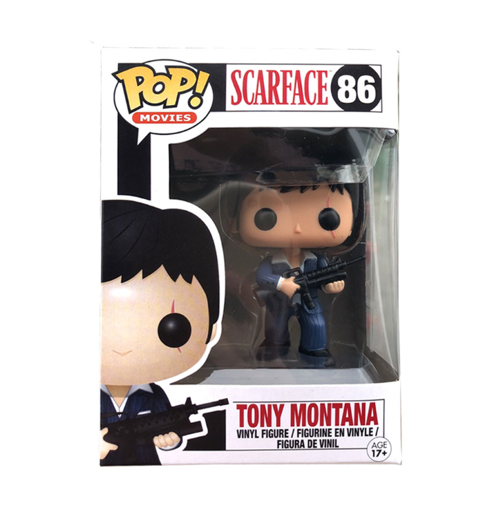 Funko POP Scarfac Tony Montana # 86 Vinyl Action Figures Collection Model Toys For Children Gift