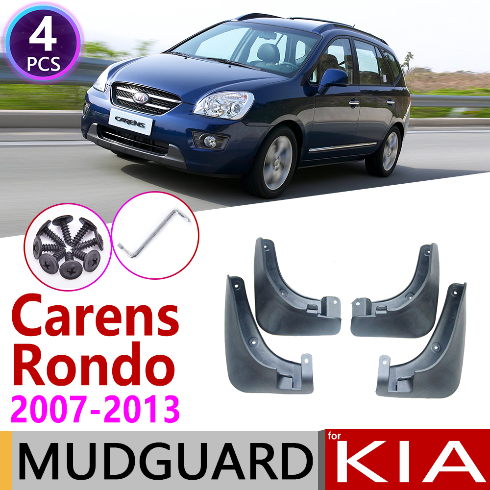 For KIA Carens Rondo Rondo7 7 UN 2007~2013 Mudflaps Fender Mud Guard Splash Flaps Mudguards Accessories 2008 2009 2010 2011 2012