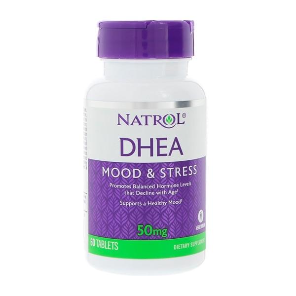 Natrol DHEA 50 Mg Mood & Stress Promotes Balanced Hormone Levels That 60 Tablets