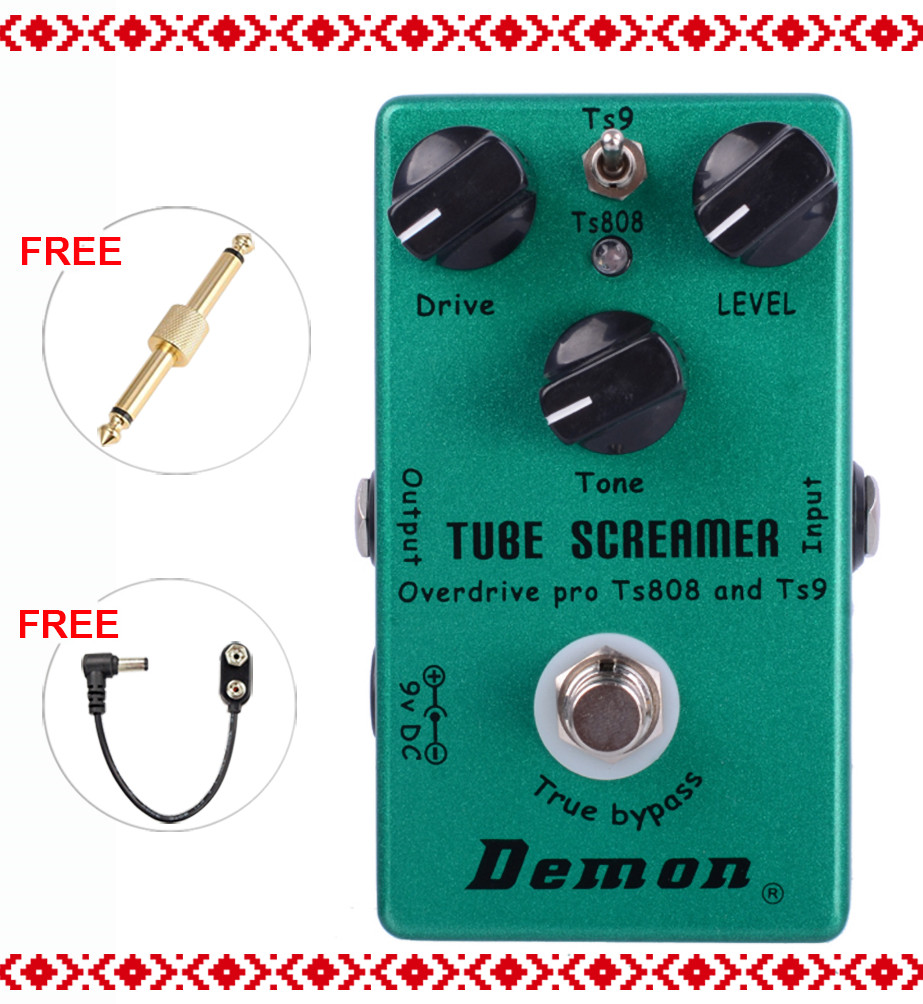 Demon TS9 And TS808 Tube Screamer Overdrive Pro Vintage Electric Guitar Effect Pedal
