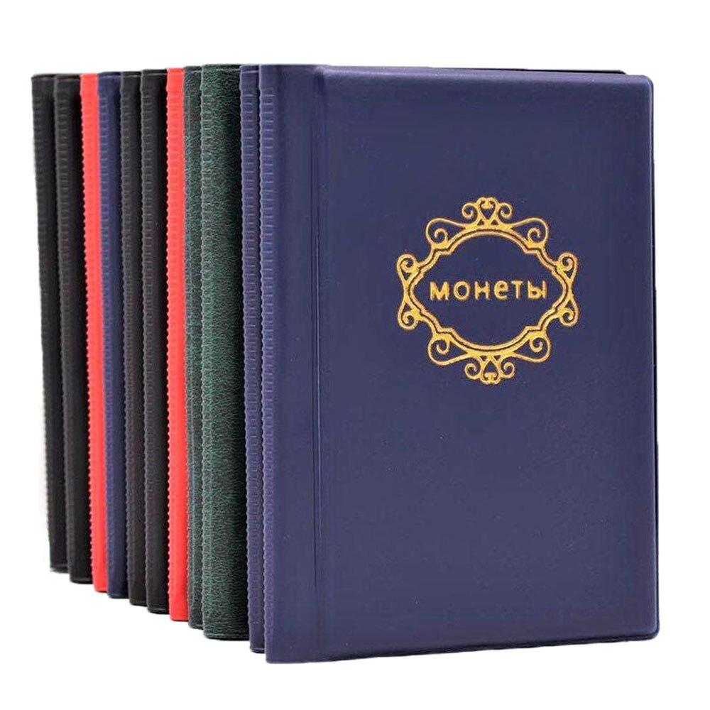 Кожаный альбом для монет, 10 страниц, 120 карманов, альбом для монет, карманы для монет, памятные жетоны, коллекционная книга