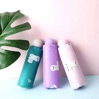 Hersteller Derzeit Verfügbar Direkt Verkauf Hälfte weg Sonnenschirm Dreifache Automatische Vinyl Regenschirm Tasche Mini Alpaka Sonnenschirm auf