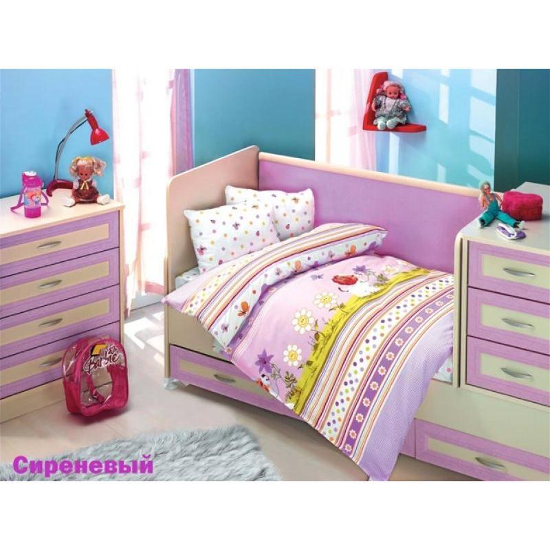 Фото - Bedding Set for baby ALTINBASAK, GULUCUK, lilac bedding set for baby altinbasak dream garden