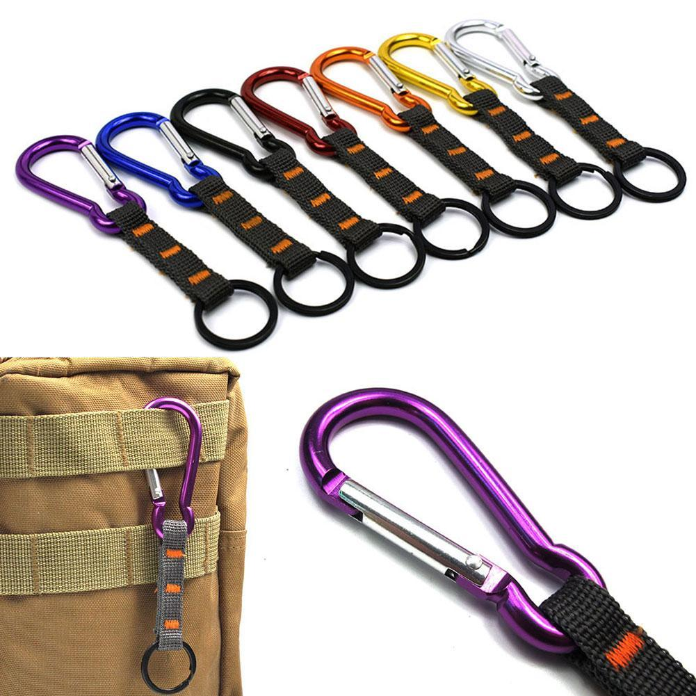 Backpack Belt Hanging Key Ring Holder Carabiner Clip For Sports Bag 7 Colors Buckled Hook Three Rings Combination