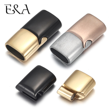 2sets Stainless Steel Magnetic Clasp Hole 8*4mm 10*5mm 12*6mm Leather Cord for Bracelet Magnet Lace Buckle Jewelry DIY Making stainless steel magnetic clasps hole 12 6mm for leather cord bracelet magnet clasp buckle diy jewelry making supplies accessory