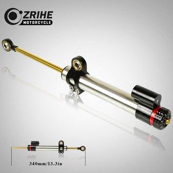 ZRIHE Motorcycle Universal Steering Stabilizer Damper Motorbike Steering Stabilize Safety Control FOR Kawasaki Z300 Z250