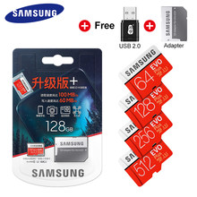 SAMSUNG EVO Plus de tarjeta Micro SD 32GB 64GB 128GB 256GB SDHC SDXC grado EVO + Clase 10 C10 UHS tarjetas TF Trans Flash Microsd Original