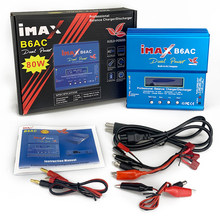 iMAX B6 AC RC Charger 80W B6AC 6A Dual Channel Balance Charger Digital LCD Screen Li-ion Nimh Nicd Lipo Battery Discharger(China)
