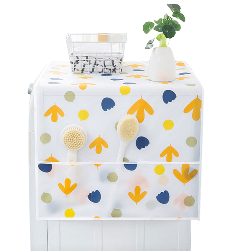 Household Refrigerator Anti-dust Cover Multifunctional Hanging Storage Bag for Washing Machine Top