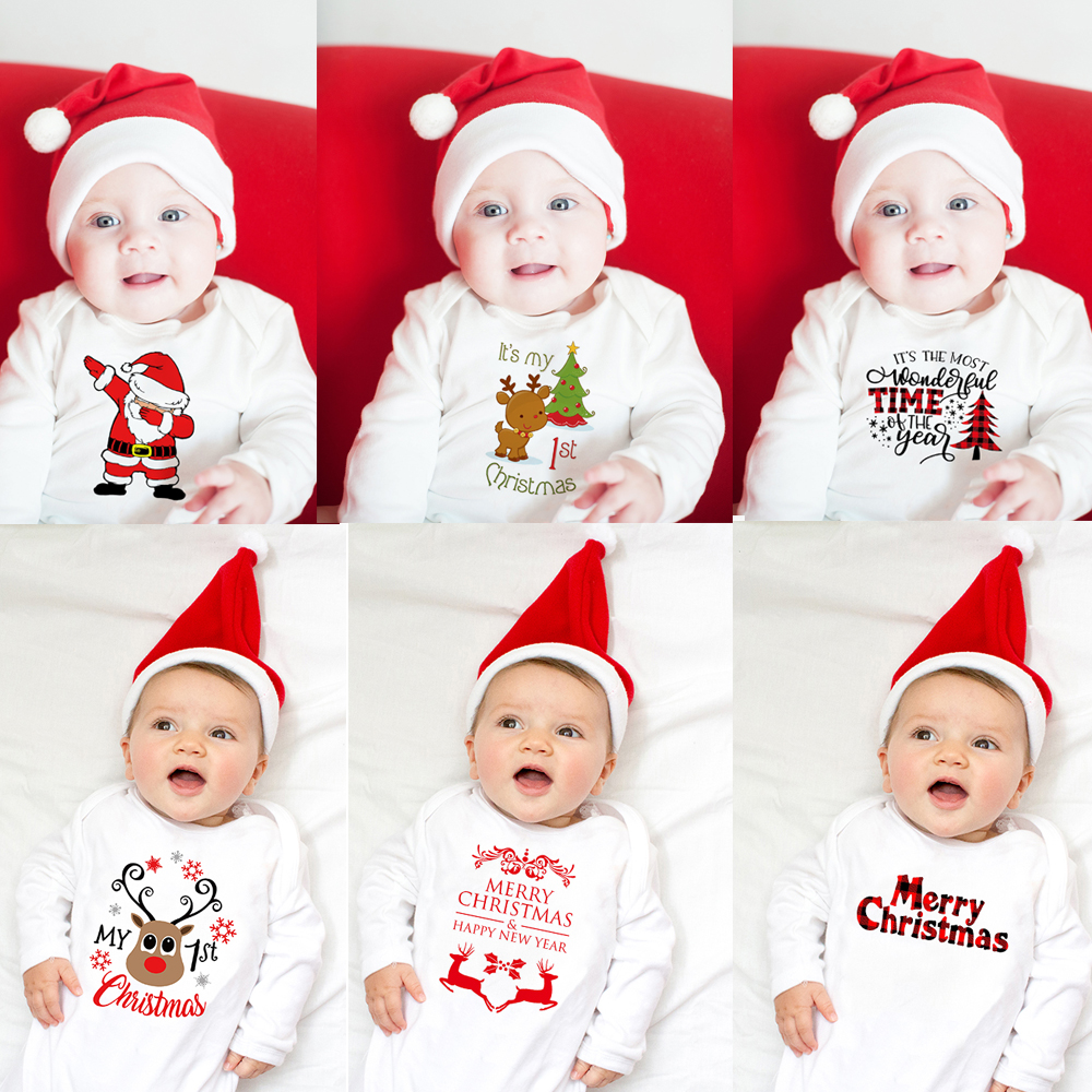 Infant Newborn Baby Kid Girl Boy Happy New Years Playsuit Romper Outfits Clothes