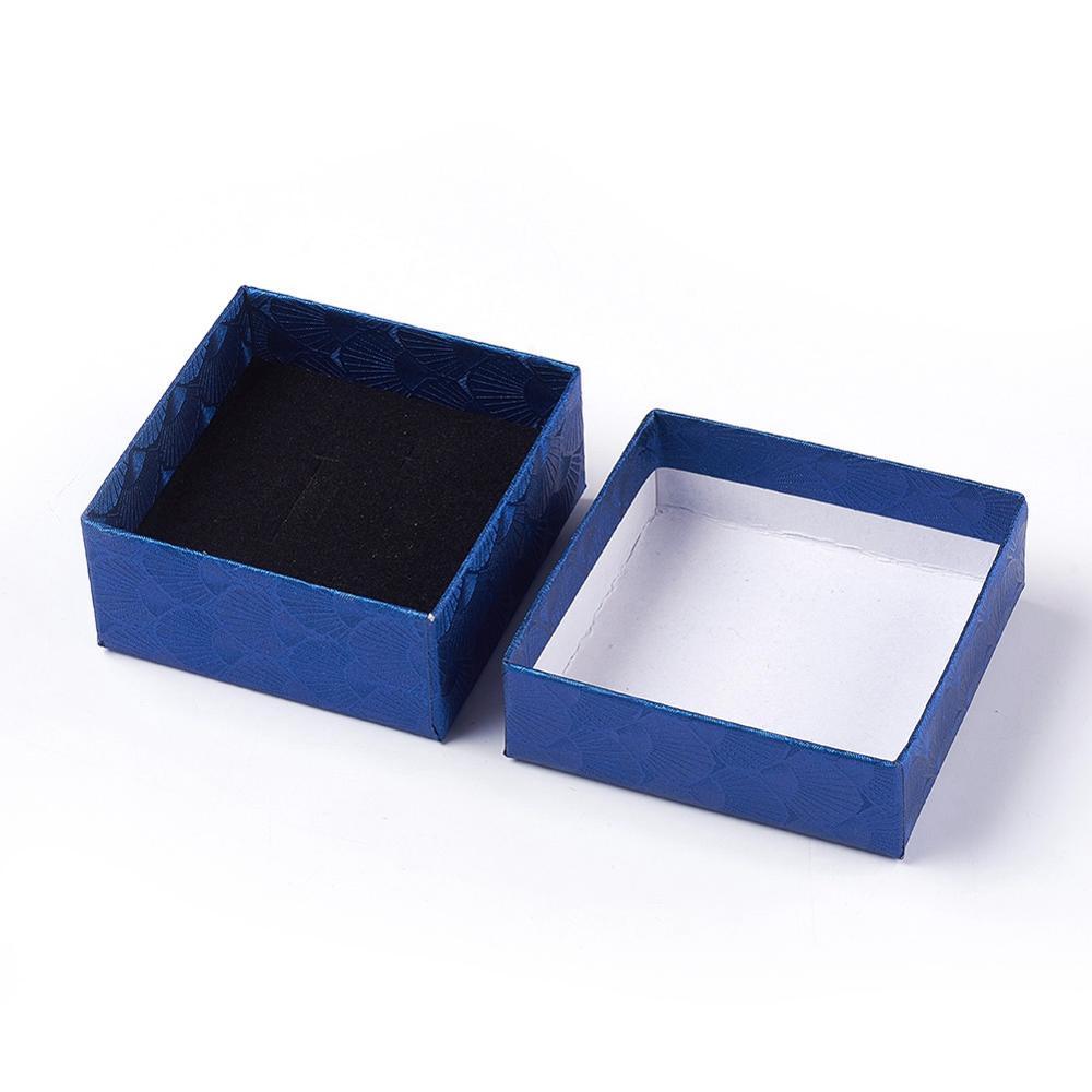 108pcs Cardboard Jewellery Setting Box Gift Package Box Sponge Inside 90x70x26mm