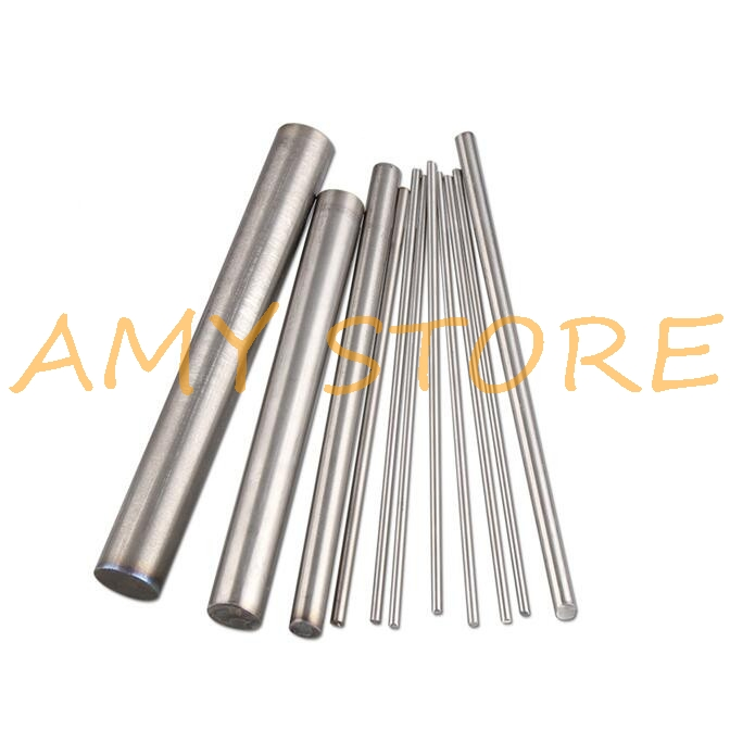 4pcs Round Titanium Ti Bar Grade 5 GR5 TC4 Metal Rod Diameter 2/3/4/5/6/7/8/9/10/12mm Diameter Length 250mm