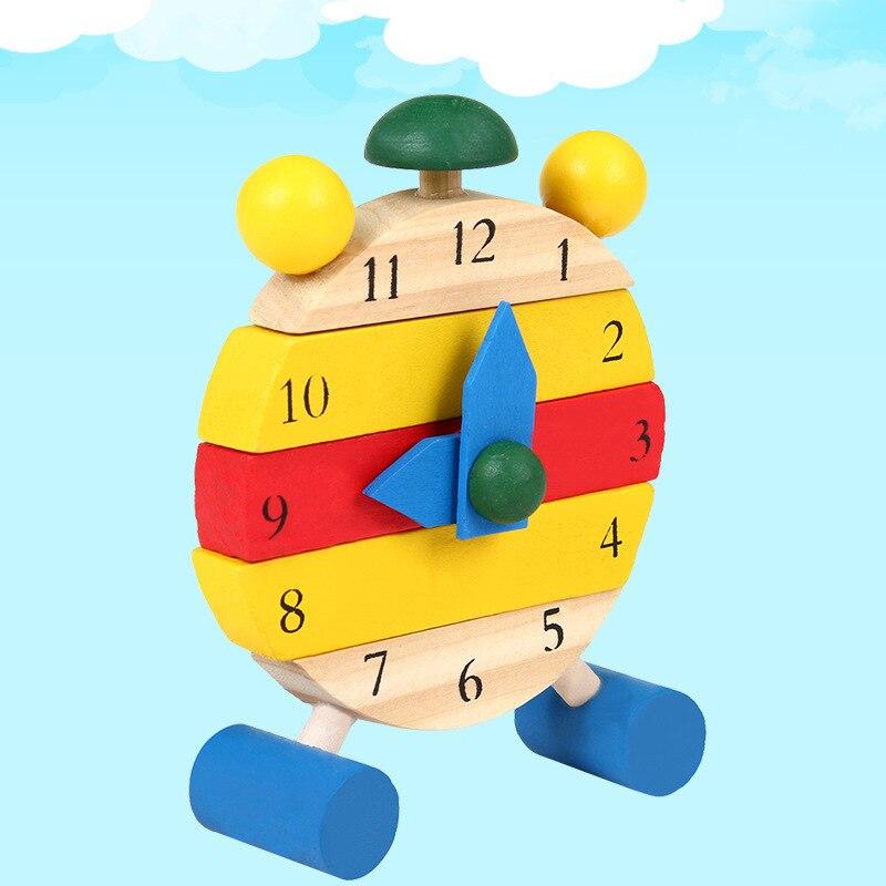Мини-часы-пазл Монтессори Деревянные пазлы Игрушки Oyuncak для детей Цифровое обучение времени образование обучающая игра для мальчиков