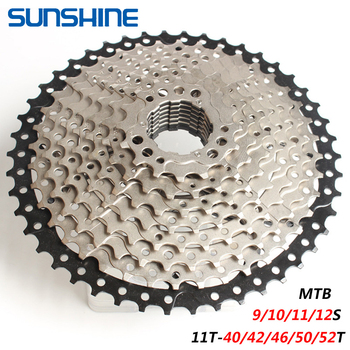 SUNSHINE MTB Cassette Flywheel 9/10/11/12 Speed 11T-40/42/46/50/52T Steel Bicycle Flywheel Mountain Bike New image