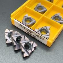 10 pièces MMT22ER AG60 VP15TF US735 MMT 22ER AG60 CNC carbure insère filetage outil de tournage machine outils de coupe fraise