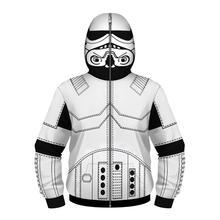 Детская толстовка для косплея «Звездные войны» с 3D принтом; толстовки с капюшоном на молнии с длинными рукавами для мальчиков и девочек; детский пуловер; топы; куртка
