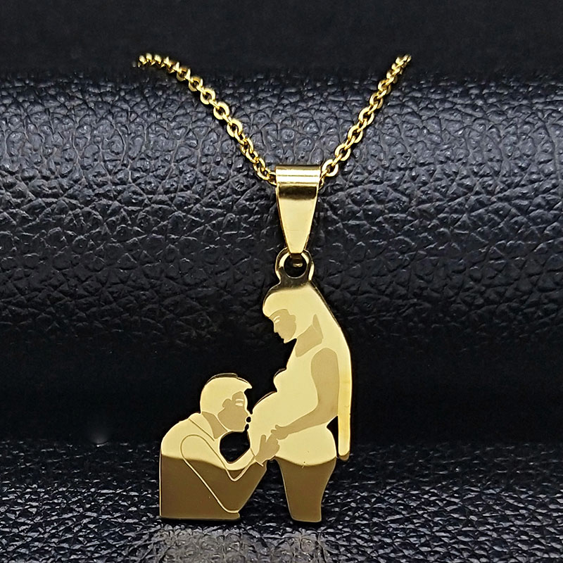 Mom Daughter Stainless Steel Chain Necklace Silver Color Necklaces Pendants Jewelry mujer Mother's Day Christmas Gift N539S01 20