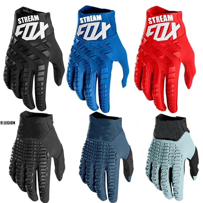 Hot Legion For Stream Fox Motocross Gloves Top Motorcycle Gloves Moto Mountain Bike MTB Glove Drit Bike MX Gloves