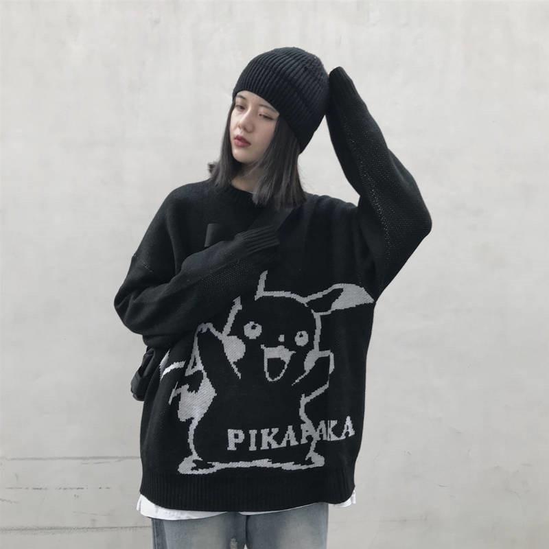 simple-all-match-women-sweaters-long-sleeve-harajuku-bf-style-pikachu-font-b-pokemon-b-font-high-street-autumn-female-ladies-round-neck