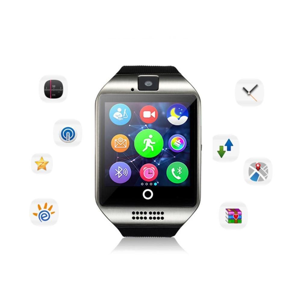 Q18 Bluetooth Smart Watch With Camera Facebook Whatsapp Sync SMS Smartwatch SIM TF Card Sport Watch For IOS Android Mobile Phone