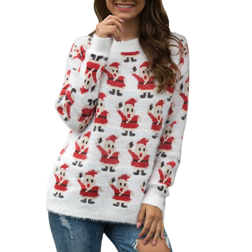 New Sweater Autumn Women Floral Fluffy Cotton Hollow Jersey Jumper Tops Sweater Long Sleeve Pullover Winter Ladies Girls 730