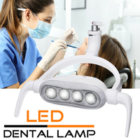 Light Removable Handle Unit Tool LED Induction Lamp Easy Install Parts Operation Shadowless 6300K 15W Teeth Care Dental Chair