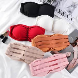 Strapless Bra Underwear Wrap-Top Tube-Tops Women New Back-Closure Female
