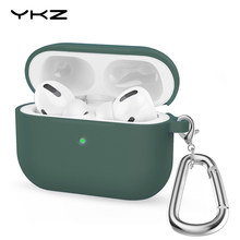 Silicone Case For Airpods Pro Case YKZ Wireless Bluetooth Ultra Slim Silicone Protective Case for Airpods pro Funda Airpods Case(China)