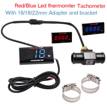 Water Temperature Motorcycle Gauge Universal Digital Led Display Koso Meter For Yamaha MT 07 NMAX BWM Thermometer Sensor Adapter