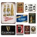 Декор для стен в Ирландском пабе, металлические пластины, винтажный постер в виде пива, жестяной знак, ГИН, винные знаки, декоративные таблич...