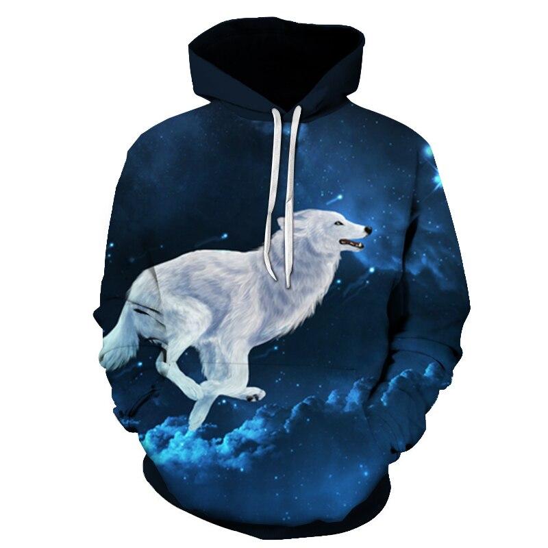 Wolf Printed Women 3d Hoodies Brand Sweatshirts Girl Boy Jackets Pullover Fashion Tracksuits Animal Streetwear Lovers Sweatshirt 91