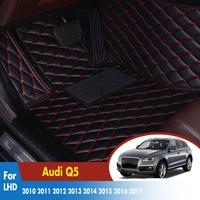 Auto Fußmatten Für Audi Q5 2010 2011 2012 2013 2014 2015 2016 2017 Leder Teppiche Dash Matten Auto Innen zubehör
