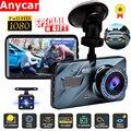Автомобильный видеорегистратор Регистраторы Dash Cam 3 в 1 заднего вида двойного Камера автомобиля Регистраторы автомобиля Камера 3,6
