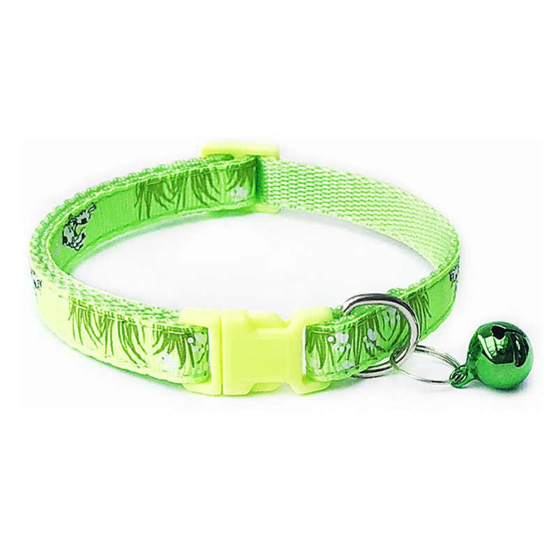 Nylon mit Glocke Pet Nette Mode Gras Hund Katze Welpen Charme Einstellbar Schönen Sicherheit Halsbänder 1PC Neue Schnalle