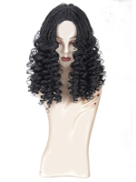 Synthetic hair full wig low temperature flame retardant silk14 inches two passion twisted pure color braided short wigs