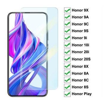Перейти на Алиэкспресс и купить Защитное стекло 9H для Honor 9X 9A 9C 9S 9i 10i 20i 20S Play, закаленное стекло, Защита экрана для Honor 8X 8A 8C 8S, пленка
